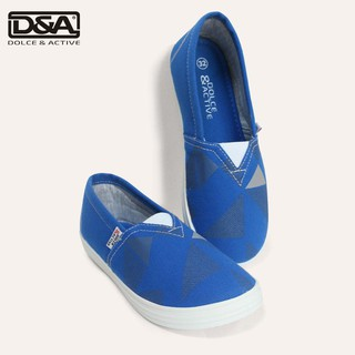 Giày lười trẻ em D&A EP G1945 xanh côban thumbnail