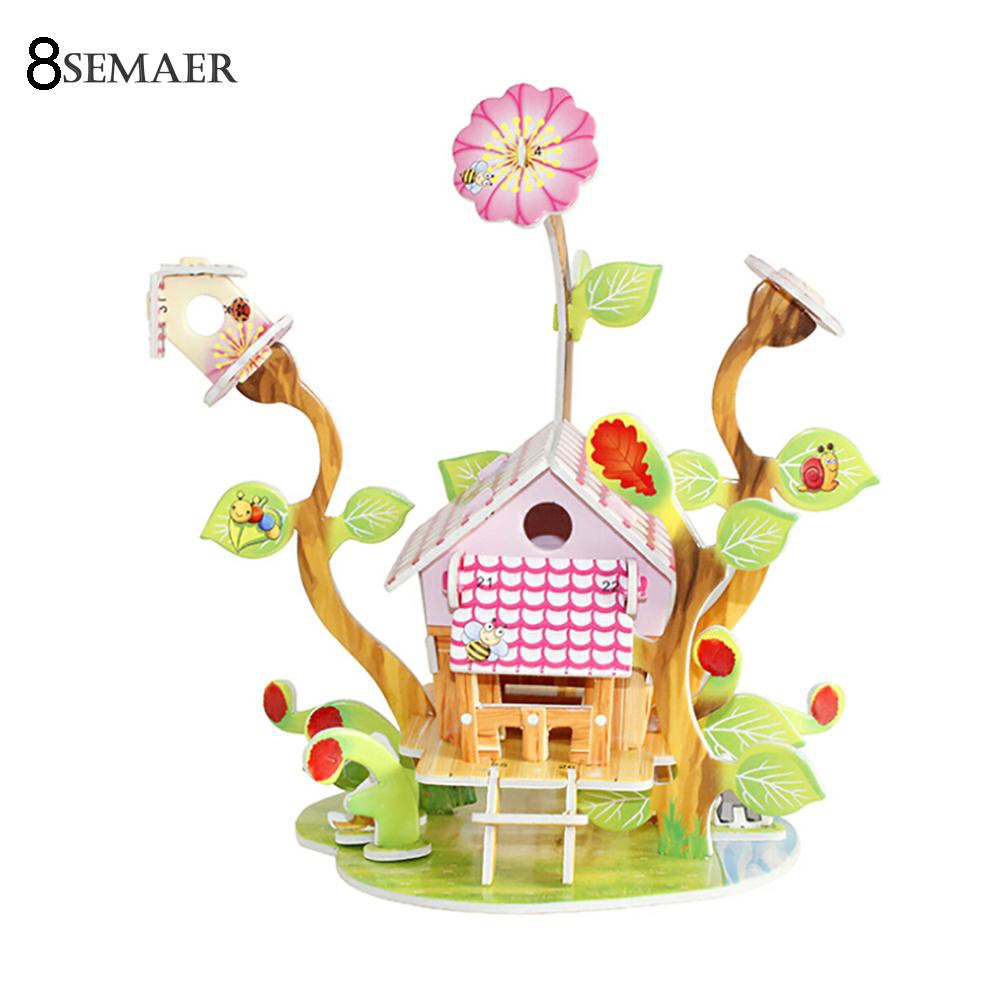 ☆ 3D Paper Board Puzzle Early Learning Construction Assemble Toy Children Gift