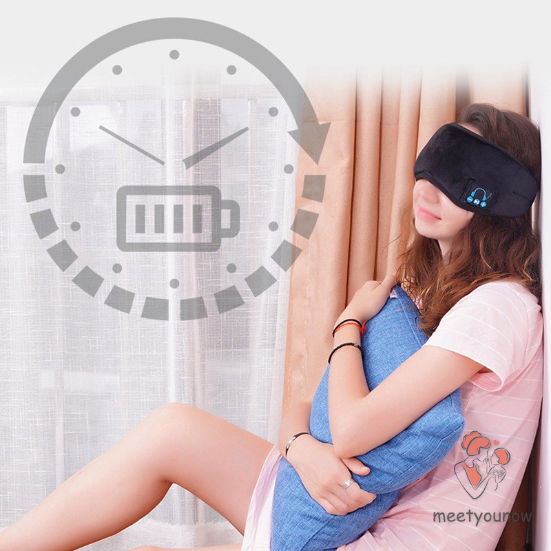 Sleep Wireless 5.0 Bluetooth Headphones Eye Mask Music Travel Sleeping Headphones Handsfree Sleeping Mask