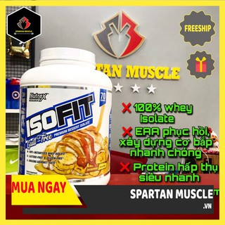 [SALE SẬP SÀN ] Whey Isofit 100% Isolate Nutrex – Whey protein hấp thụ siêu nhanh – Hộp 70 lần dùng
