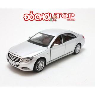 Mô hình xe ô tô Mercedes-Benz S600 tỉ lệ 1/32 màu bạc