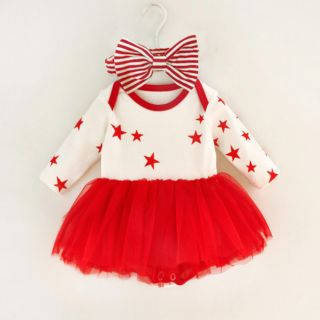 Váy sao công chúa tặng kèm băng đô cho bé sơ sinh 0-12 tháng