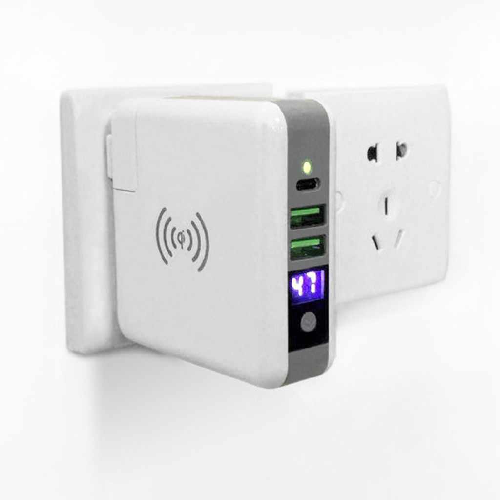 【PS】Qi Wireless Charger Portable Power Bank 6700 mAh