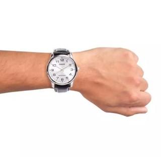 Đồng hồ nam dây da Casio chính hãng Anh Khuê MTP-V001L-7BUDF