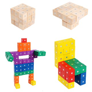 30PCS Building Blocks Creative Magnetic Square Kids Block Toys Educational Toys