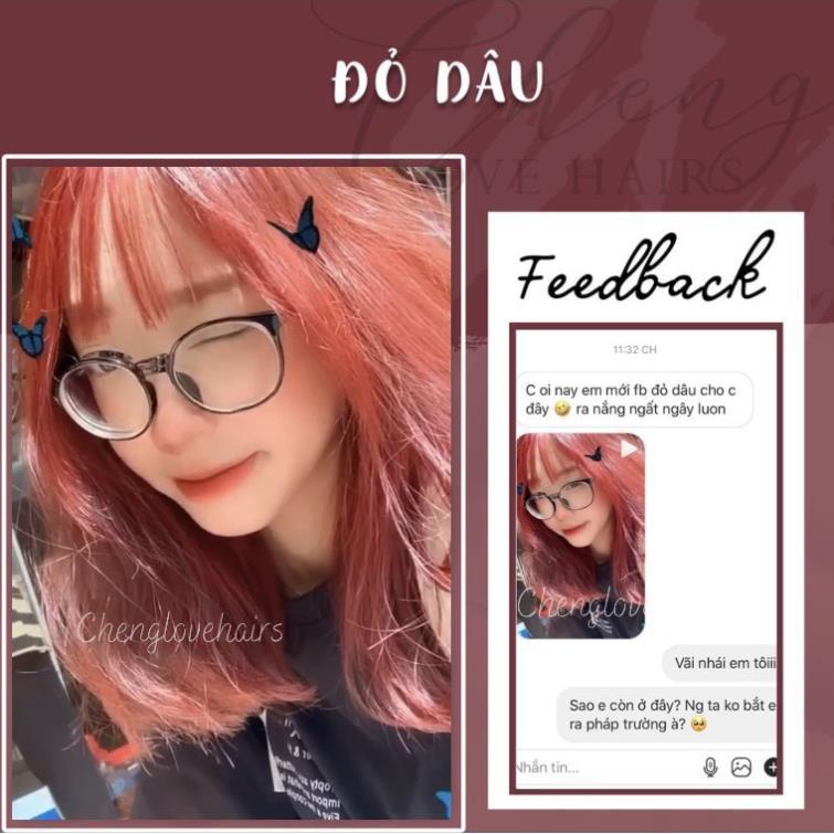 Thuốc nhuộm tóc màu ĐỎ DÂU - STRAWBERRY