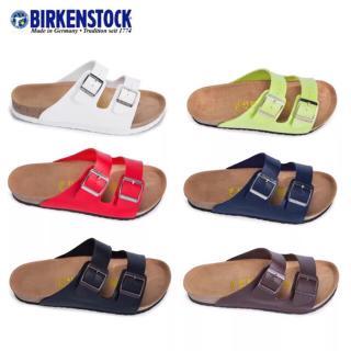 Dép sandal đi biển Birkens Arizona màu trơn hàng chính hãng