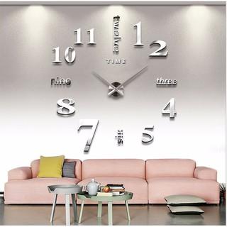 Bộ đồng hồ số mica lớn đường kính 1.2m, MẪU A
