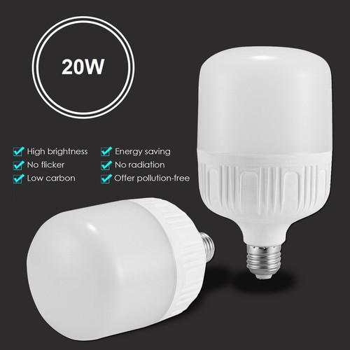 Combo 3 bóng đèn trụ tròn 20W - LED ánh sáng trắng (đường kính 8cm - siêu sáng - bảo hành 1 năm)
