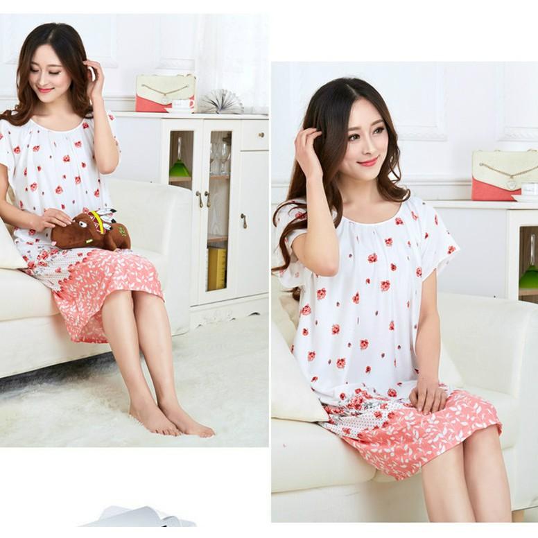 Đầm Ngủ Form Suông Big Size Vải Cotton Siêu Mịn