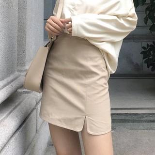[CHÂN VÁY NỮ]Chân váy ngắn chữ A xẻ – hàng siêu hot QC