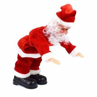ღღ santa claus turning a somersault electric musical toy Xmas decor