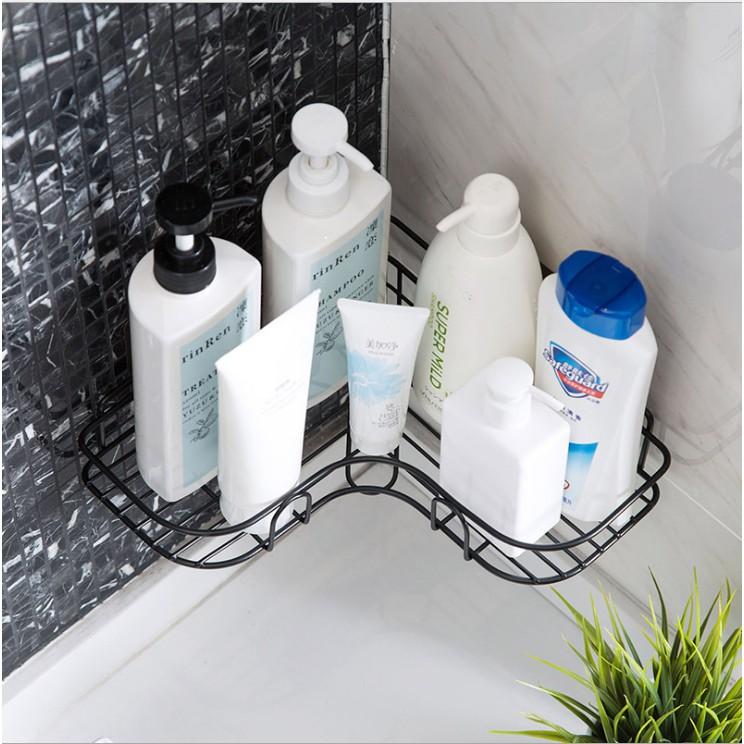 Kệ góc dán tường siêu dính trong nhà tắm, nhà bếp siêu tiện dụng