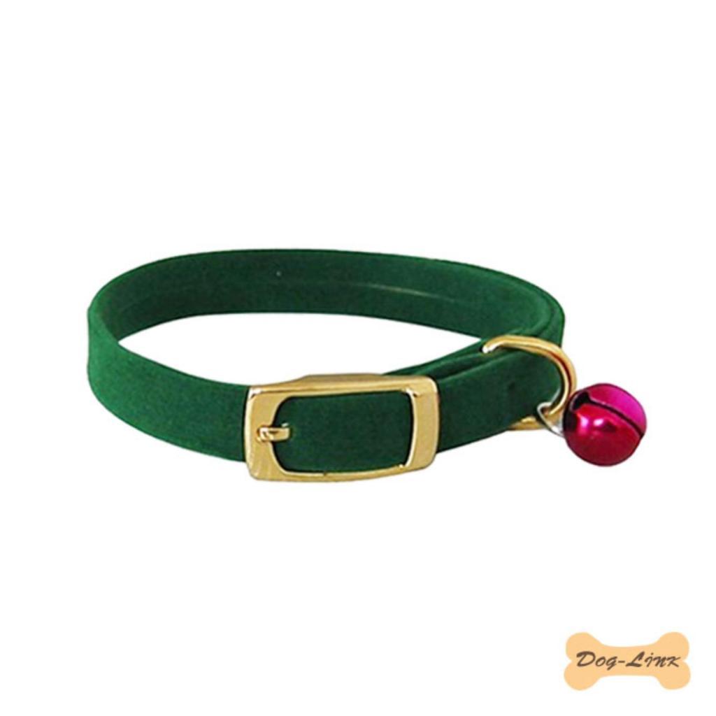 Dog-Link ปลอกคอกำมะหยี่ สำหรับแมว 30 ซม. สีเขียวog-Link ปลอกคอกำมะหยี่ สำหรับแมว 30 ซม. สีเขียว