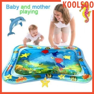 [KOOLSOO] Baby Kids Water Play Mat Inflatable Infant Tummy Time Playmat Toddler Novelty Toys