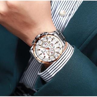 Đồng hồ nam CURREN đồng hồ mặt thép không rỉ, dạ quang thiết kế tinh xảo