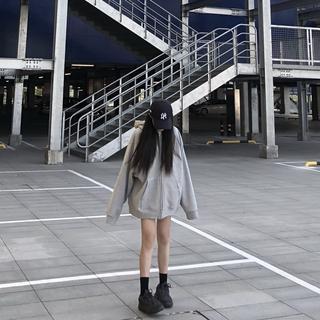 Áo Khoác Hoodie Len Phối Nhung Dày Dáng Rộng Kiểu Hàn Quốc Thời Trang 2020 Cho Nữ