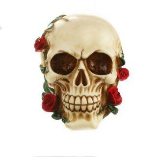 Mô hình đầu lâu trang trí hoa hồng