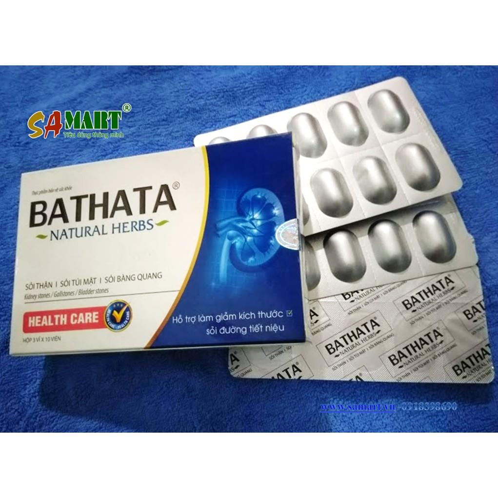 Bài thạch tán Bathata hỗ trợ trị dứt điểm sỏi tiết niệu, sỏi thận ...