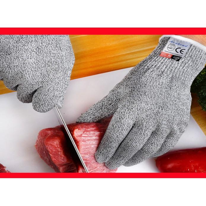 Găng tay chống dao cắt bảo vệ bàn tay nhiều size để chọn