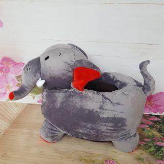 Ghế tập ngồi nhồi bông cho bé hình voi