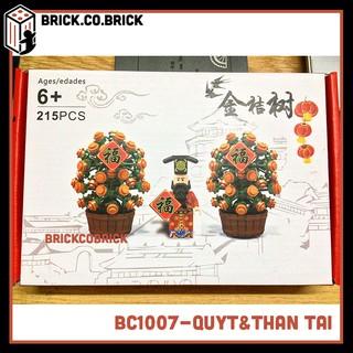 (CÓ SẴN) BC1007 – Đồ chơi lắp ráp minifigures và non lego xếp hình thần tài và cây quýt Tết Việt Nam.