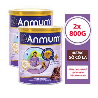 Combo 2 Sữa Bột Anmum Materna Hương Sô-cô-la (800g lon) thumbnail