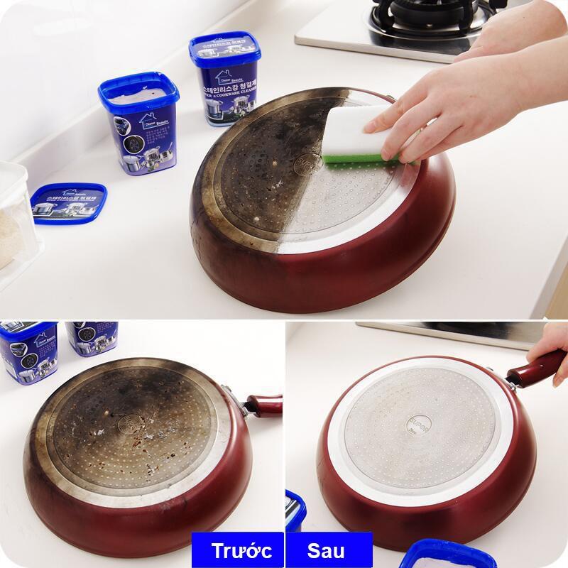 Bột tẩy rửa đa năng - Vệ sinh nhà bếp, nhà tắm - Bột tẩy trắng xoong nồi, chảo nhập khẩu Hàn Quốc FEMARI