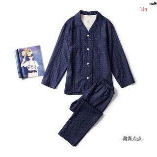 Bộ Đồ Ngủ Thời Trang Tay Dài Bằng Cotton Phong Cách Nhật Bản Dành Cho Nữ