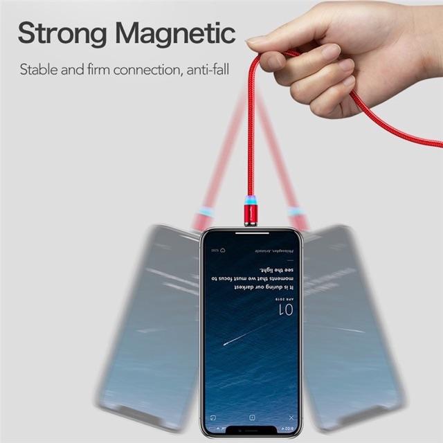 Cáp sạc nhanh nam châm cho iOS Android - Cap Sạc Nam Châm Đa Năng