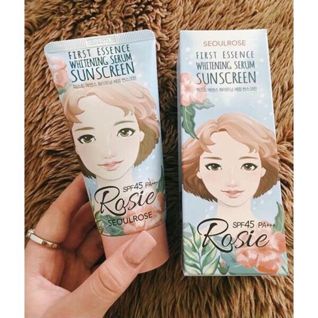 [Date 2021]_Kem chống nắng Rosie First Essence Whitening Serum Sunscreen SPF45 PA+++ 45ml - 3550345 , 1221092178 , 322_1221092178 , 250000 , Date-2021_Kem-chong-nang-Rosie-First-Essence-Whitening-Serum-Sunscreen-SPF45-PA-45ml-322_1221092178 , shopee.vn , [Date 2021]_Kem chống nắng Rosie First Essence Whitening Serum Sunscreen SPF45 PA+++ 45