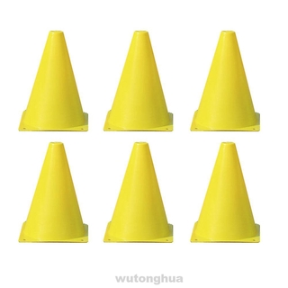 6pcs Agility Bright Color Cone Obstacle Football Training Safety Skating Soccer Marker