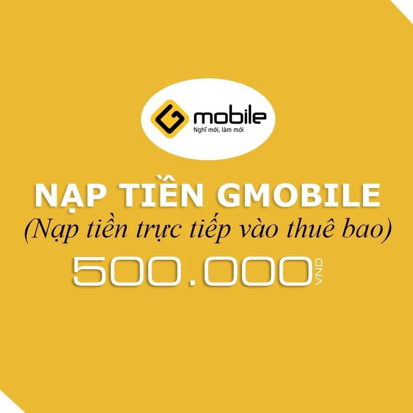 Nạp tiền điện thoại Gmobile 500K - 3342654 , 529518411 , 322_529518411 , 500000 , Nap-tien-dien-thoai-Gmobile-500K-322_529518411 , shopee.vn , Nạp tiền điện thoại Gmobile 500K