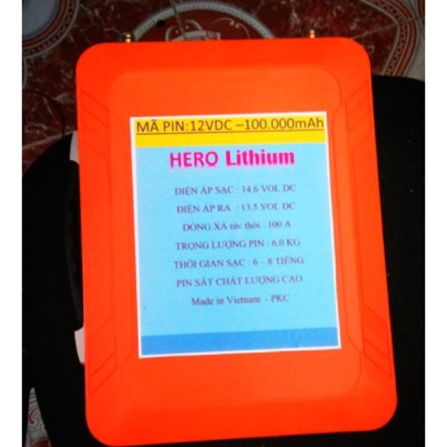 Pin lithium PHOTPHATSE 100Ah