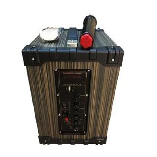 loa kẹo kéo karaoke bluetooth JBZ NE106 vỏ gỗ tặng kèm 1 micro – 585