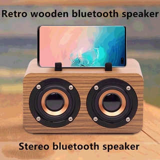 Loa Bluetooth Không Dây Bằng Gỗ Phong Cách Retro