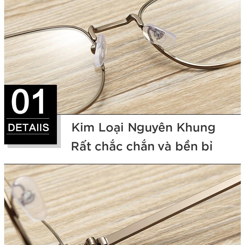Gọng Kính Kim Loại Tròn B826-Tặng Khăn Hộp