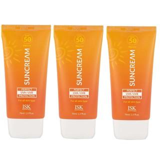 Bộ 3 Hộp kem chống nắng BEAUSKIN ISK Perfect Protection Sun Cream SPF 50 PA +++ Hàn quốc 70ml/ Hộp