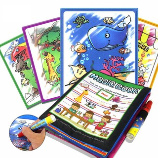 Kids Magic Water Drawing Coloring Book Doodle with Magic Pen Drawing Toys
