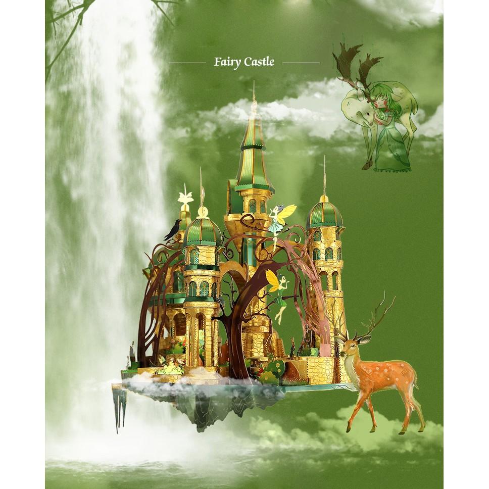 Mô Hình Kim Loại Lắp Ráp 3D Lâu đài thần tiên-fairy castle( picture kingdom)