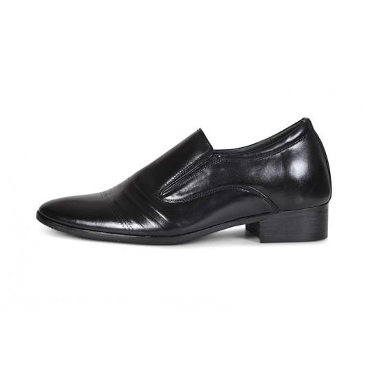 Giày lười công sở Sanvado đế cao da trơn màu đen/nâu (PC-128-DC)