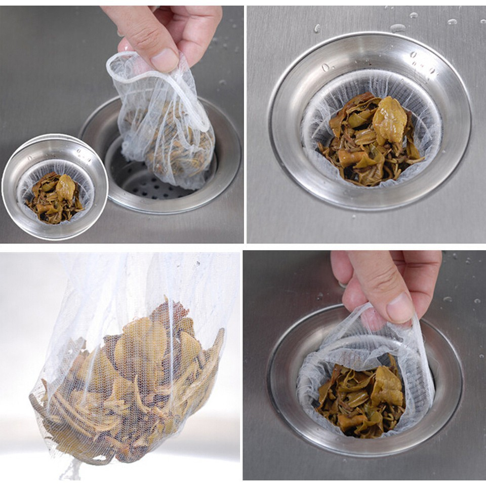 Túi Lọc Rác Bồn Rửa Bát (Túi 100 Chiếc) - Hàng Có Chun