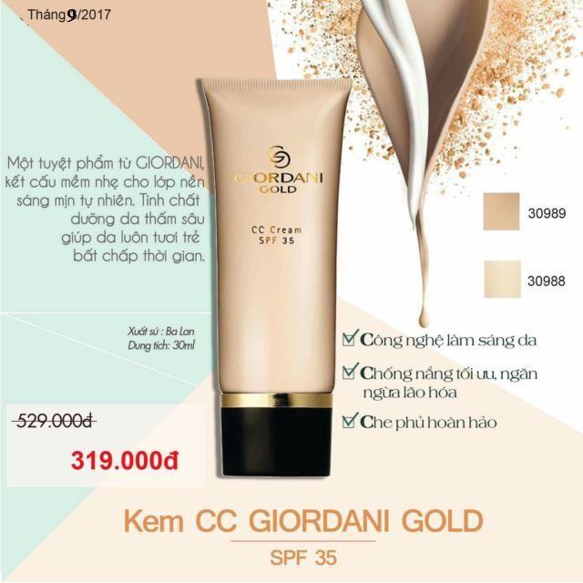 Kem Nền Trang Điểm Giordani Gold CC Cream SPF 35 Oriflame 30988 - 2650648 , 484882775 , 322_484882775 , 329000 , Kem-Nen-Trang-Diem-Giordani-Gold-CC-Cream-SPF-35-Oriflame-30988-322_484882775 , shopee.vn , Kem Nền Trang Điểm Giordani Gold CC Cream SPF 35 Oriflame 30988