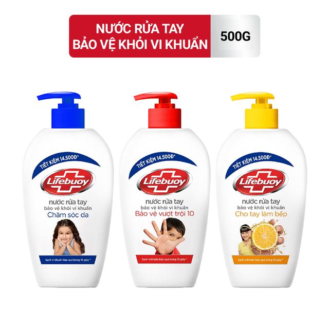 Nước rửa tay Lifebuoy Bảo vệ khỏi vi khuẩn 500gr (