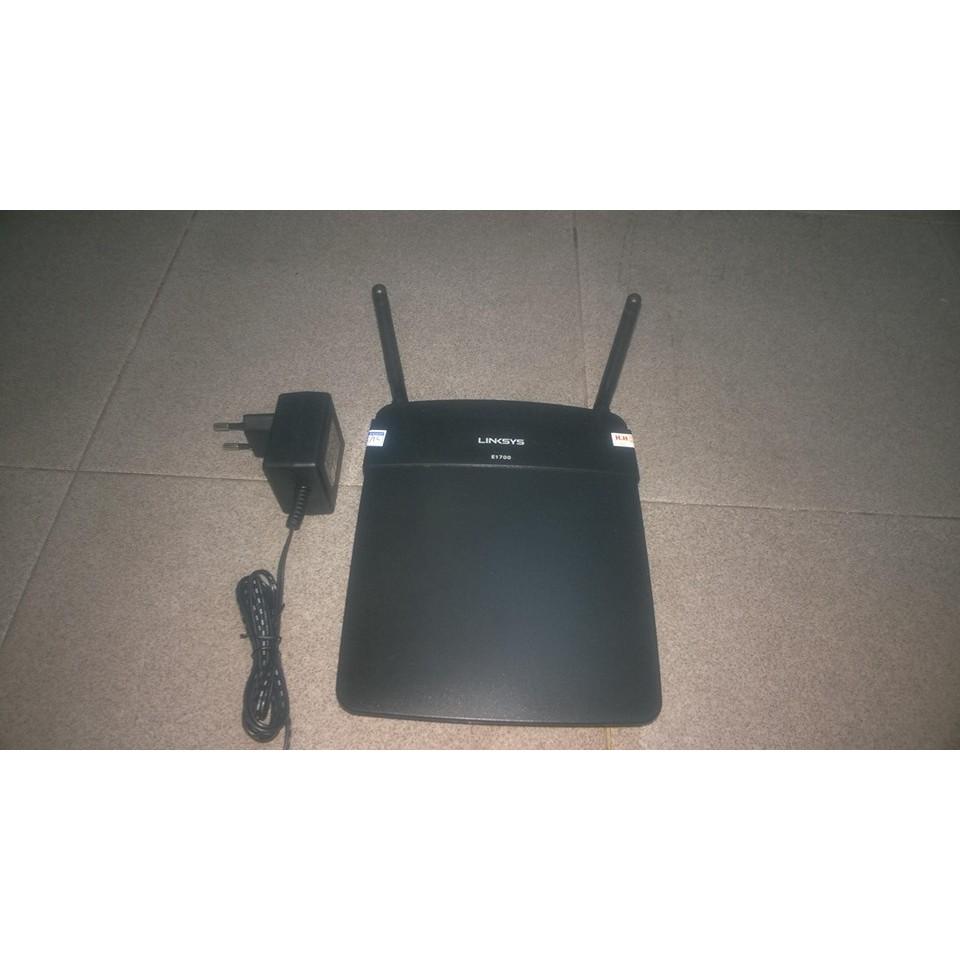 Router wifi Cisco E1700 N300mbps 2 râu công Gigabit hàng đã qua sử dụng