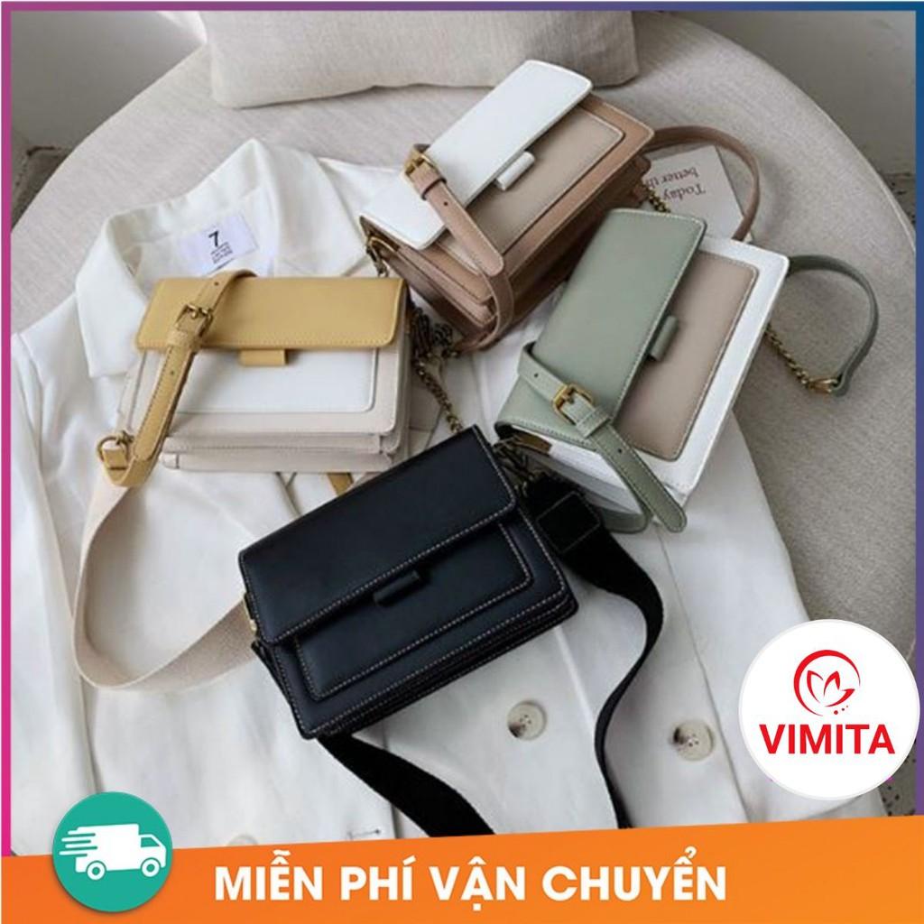 Túi Xách Nữ Quảng Châu - 💝FREESHIP 50K 💝- Túi Xách Nữ Đeo Chéo Phối Màu VINTAGE Cực Đẹp TX01