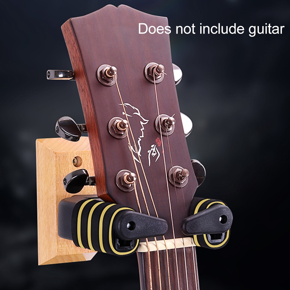 Wood Base Wall Mountable Rotate Accessories Display Support Gravity Guitar Hanger