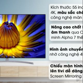 Smart tivi NanoCell LG 4K 55 inch 55SK8500PTA. NGUYÊN SIÊU