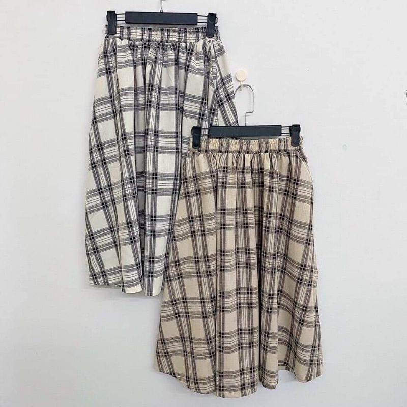 Caro Skirt ( chân váy dài caro )