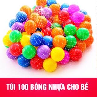 TÚI BÓNG NHỰA 100 QUẢ CHO LỀU BÓNG